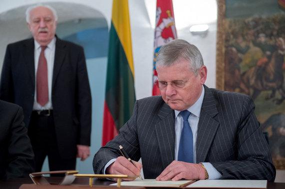 Alfredo Pliadžio nuotr./Lietuvos parolimpinio komiteto prezidentas Vytautas Kvietkauskas
