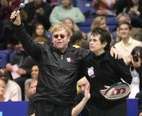 Eltonas Johnas and Billie Jean King