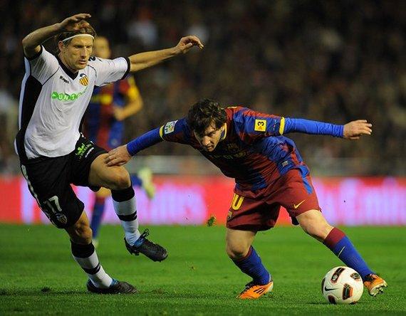 "AFP/""Scanpix"" nuotr./Marius Stankevičius ir Lionelis Messi"