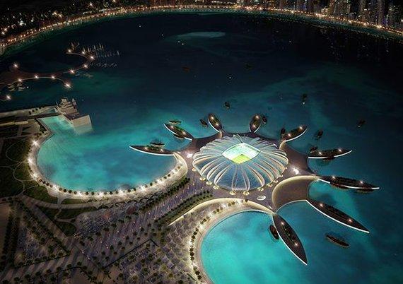 """""""Scanpix"""" nuotr./Futbolo stadiono vizualizacija Katare."""