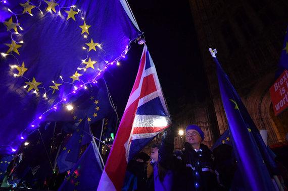 "AFP/""Scanpix"" nuotr./""Brexit"" sutarties svarstymas britų parlamente"