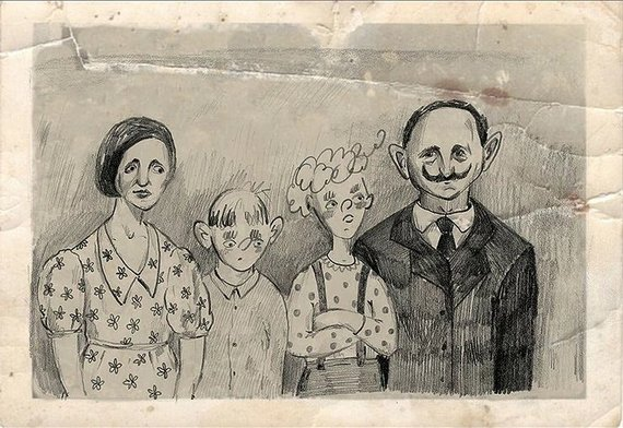 Knygos iliustracija/Korių šeima