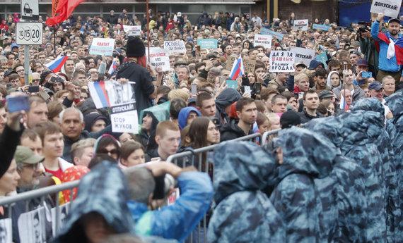 """Reuters""/""Scanpix"" nuotr./Mitingas Maskvoje"