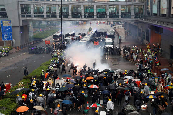 """Reuters""/""Scanpix"" nuotr./Protestas Honkonge"