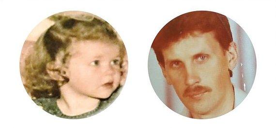 Asmeninio archyvo nuotr./Ignė Zarambaitė ir jos tėtis