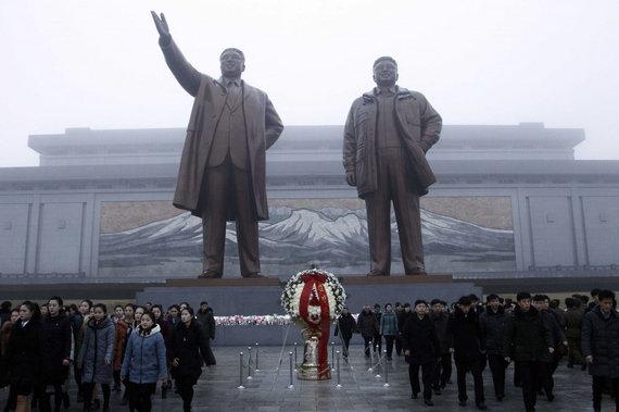 """""""Scanpix""""/AP nuotr./Kim Jong Ilo mirties metinių minėjimas"""