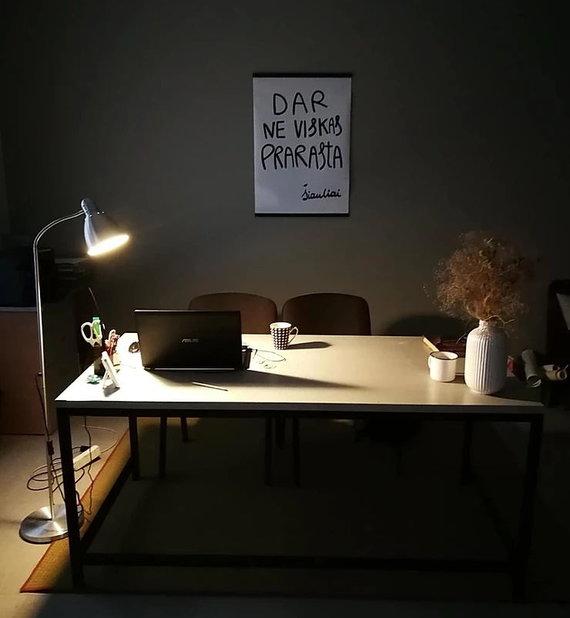 Asmeninio archyvo nuotr./Modestos Jurgaitytės darbo stalas