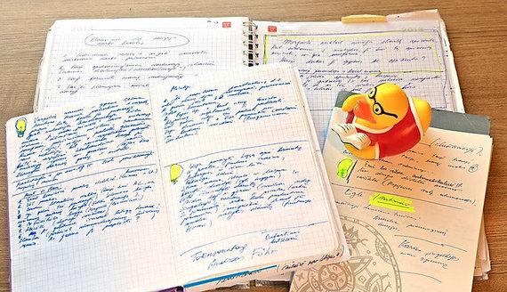 Asmeninio archyvo nuotr./Danguolės Kandrotienės kūrybinis procesas
