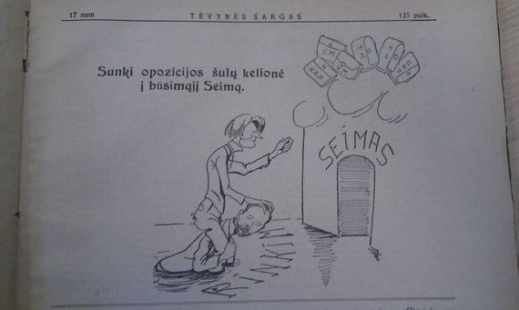 D.Jablonskaitės nuotr./Prieškarinėje partinėje spaudoje nesivaržyta šaipytis iš politinių oponentų