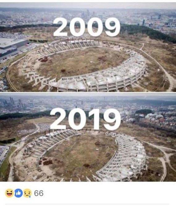 """Facebook nuotr./""""10 metų iššūkyje"""" – Nacionalinis stadionas"""