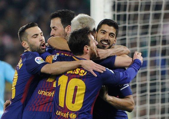 """Reuters""/""Scanpix"" nuotr./""Barcelona"" futbolininkai"