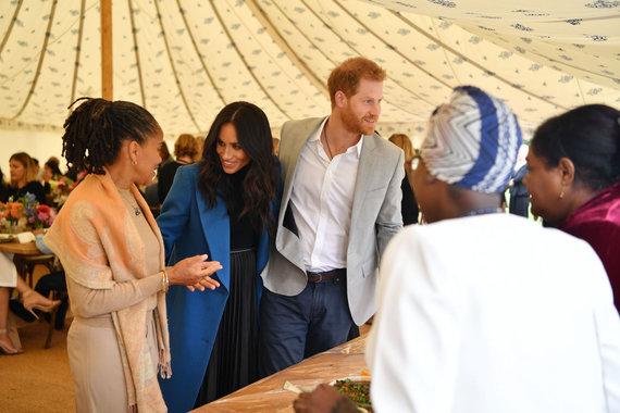 "AFP/""Scanpix"" nuotr./Doria Ragland, Sasekso hercogienė Meghan ir princas Harry"