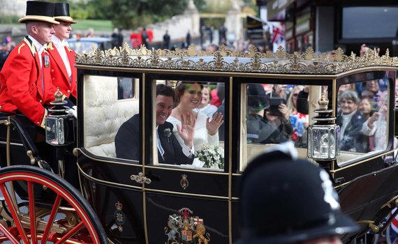 "AFP/""Scanpix"" nuotr./Princesės Eugenie ir Jacko Brooskbanko vestuvės"