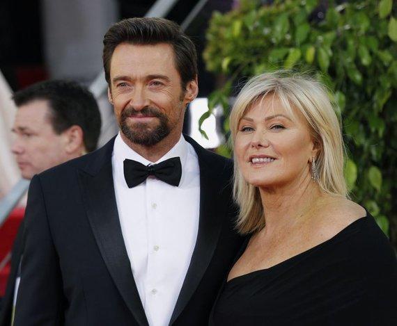 """Reuters""/""Scanpix"" nuotr./Hugh Jackmanas su žmona Deborra-Lee Furness"