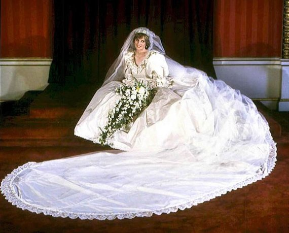 "AFP/""Scanpix"" nuotr./Diana Spencer per savo vestuves (1981 m.)"