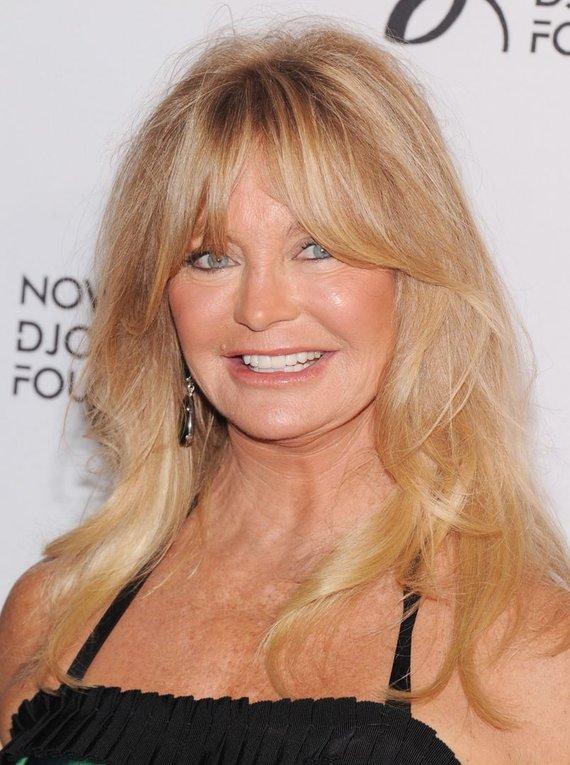 """AFP/""""Scanpix"""" nuotr./Goldie Hawn švenčia 68-ąjį gimtadienį"""