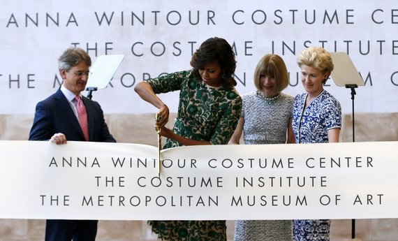 """Reuters""/""Scanpix"" nuotr./Michelle Obama ir Anna Wintour"