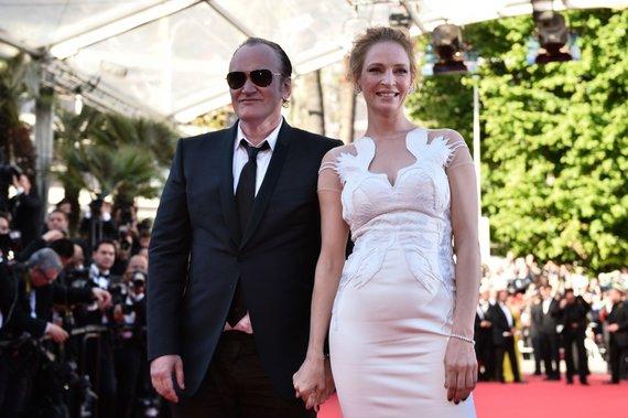 """AFP/""""Scanpix"""" nuotr./Uma Thurman ir Quentinas Tarantino"""