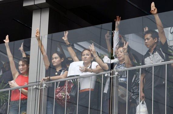 """""""Reuters""""/""""Scanpix"""" nuotr./Protestuotojai Tailande"""