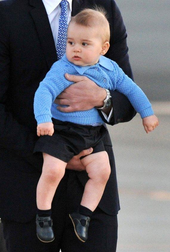 "AFP/""Scanpix"" nuotr./Princas George'u 2014-ųjų balandį"