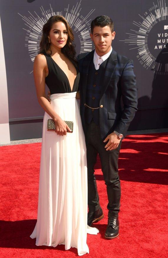 "AFP/""Scanpix"" nuotr./Nickas Jonas ir Olivia Culpo"