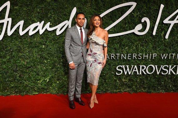 """Scanpix""/AP nuotr./Lewisas Hamiltonas ir Nicole Scherzinger"