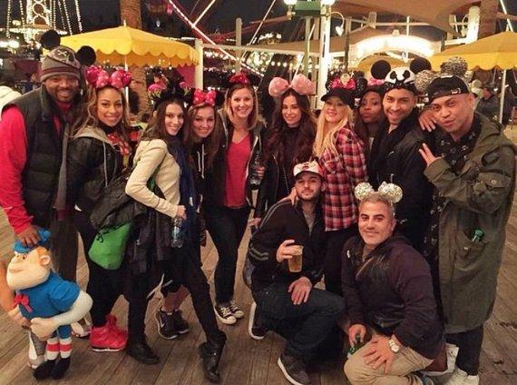"""Instagram"" nuotr./Christina Aguilera su bičiuliais Disneilande"