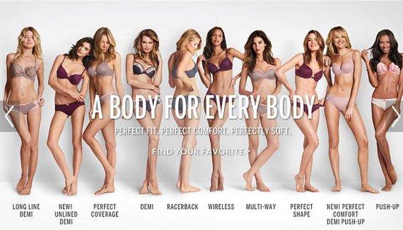 """Stop kadras/Pasipiktinimą sukėlusi """"Victoria's Secret"""" reklama """"The Perfect Body"""" buvo pervadinta į """"A Body For Everybody"""""""