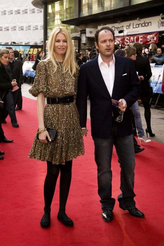 """Scanpix"" nuotr./Claudia Schiffer ir Matthew Vaughnas (2008 m.)"