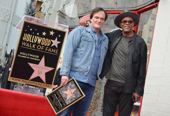 "AFP/""Scanpix"" nuotr./Quentinas Tarantino ir Samuelis L. Jacksonas"