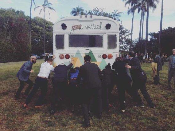 """Instagram"" nuotr./Troian Bellisario ir Patricko J. Adamso vestuvės"