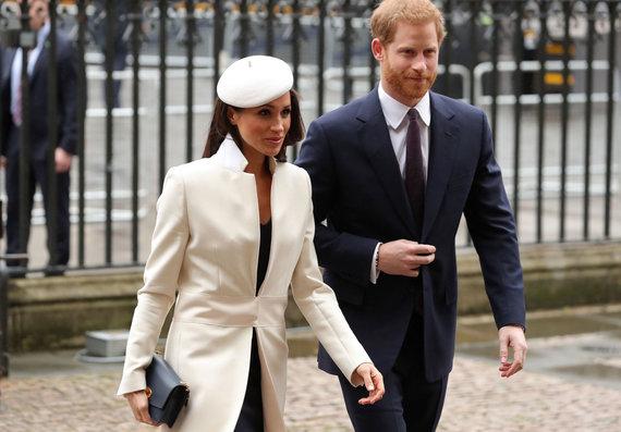 """AFP/""""Scanpix"""" nuotr./Princas Harry su Meghan Markle"""