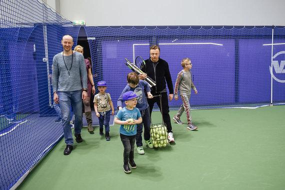 Loretos Kondratės nuotr./Teniso turnyro akimirka