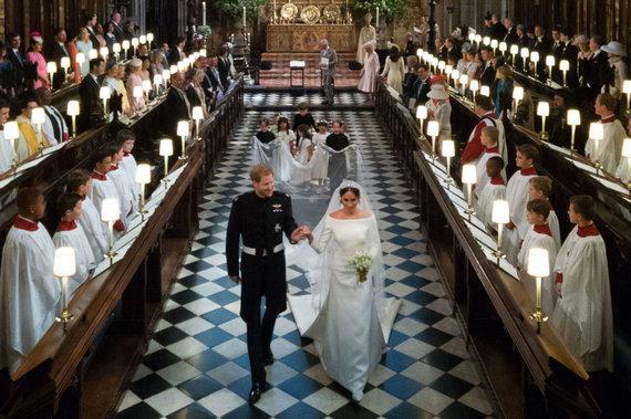 "AFP/""Scanpix"" nuotr./Princo Harry ir Meghan Markle vestuvės Vindzoro pilyje"