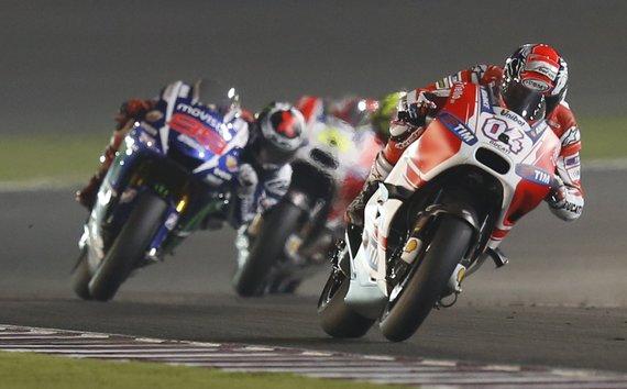"""""""Scanpix"""" nuotr./Pirmosios 2015-ųjų sezono """"Moto GP"""" lenktynės Katare"""