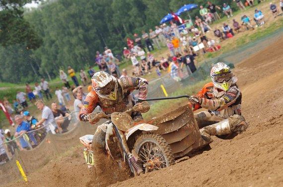 Dariaus Kibirkščio/Fotodarius.lt nuotr./Priekabų motokroso čempionatas Latvijos Kegums mieste