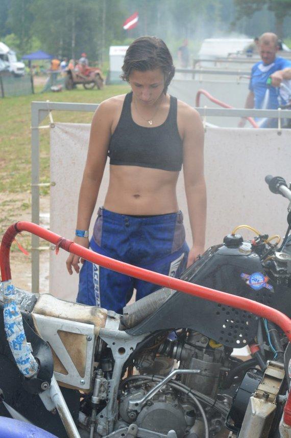 Priekabų motokroso čempionatas Latvijos Kegums mieste