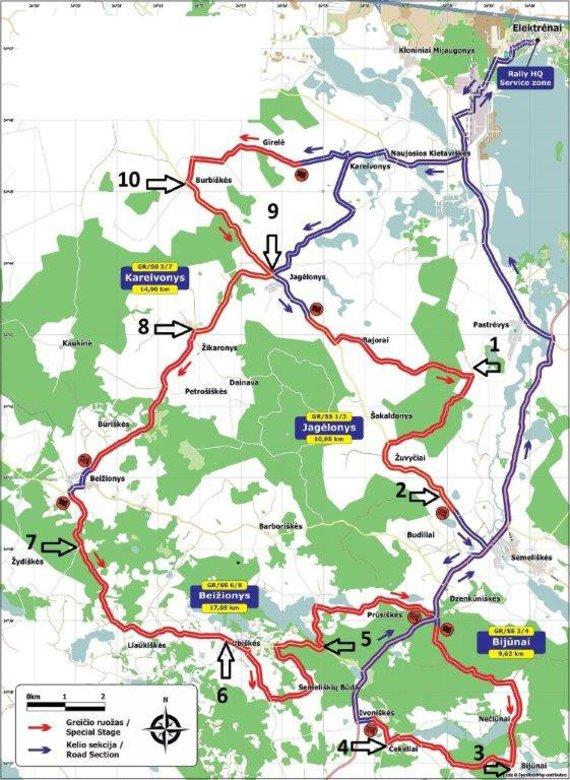 """""""Rally Elektrėnai"""" žemėlapis"""