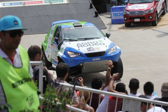 Tomo Markelevičiaus/15min.lt nuotr./Dakaro ralio dalyvių podiumas