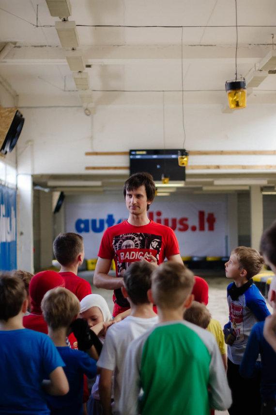 Jaunųjų lenktynininkų rengimo treniruotės