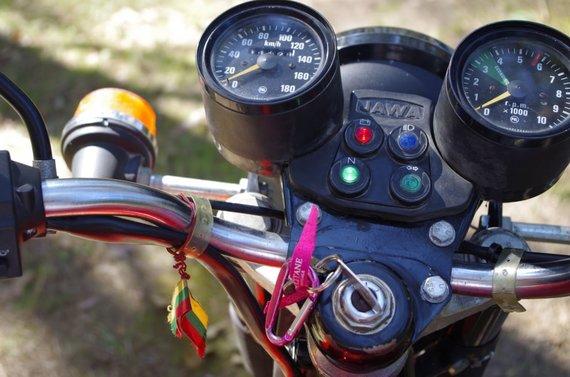 Aldonos Juozaitytės nuotr./JAWA motociklas