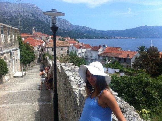 Asmeninio albumo nuotr./Saulenė Chlevickaitė Kroatijoje