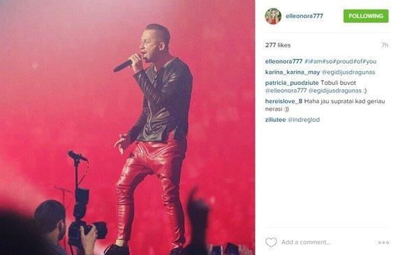 "Eleonoros Sebrovos skelbimas ""Instagram"" tinkle"
