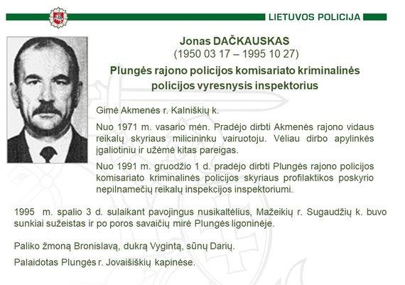 Policijos nuotr./Jonas Dačkauskas