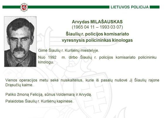 Policijos nuotr./Arvydas Milašauskas