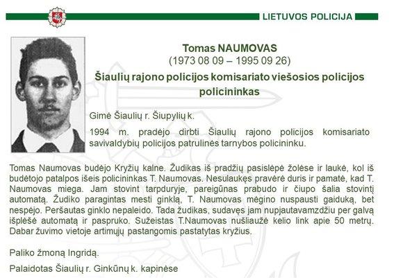 Policijos nuotr./Tomas Naumovas