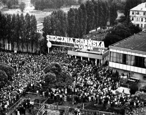 Zenono Mirotos nuotr./Solidarumo judėjimas Lenkijoje prasidėjo nuo streikų laivų statyklose