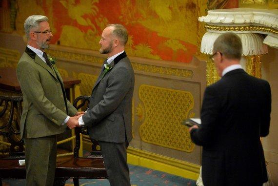 "AFP/""Scanpix"" nuotr./homoseksualų santuoka Didžiojoje Britanijoje"