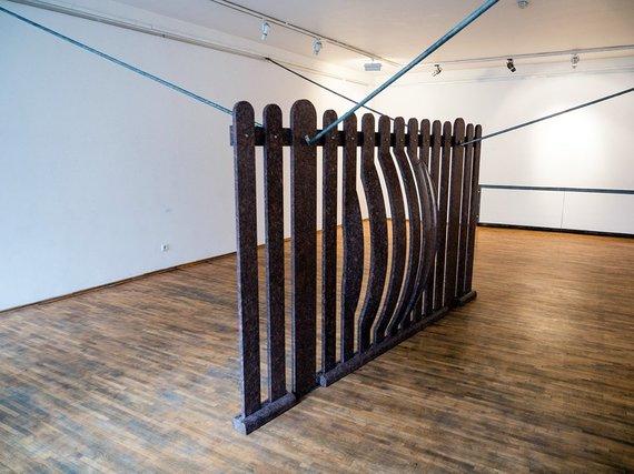 """Tomo Ivanausko nuotr./A.Šnaras. """"Vienos skulptūros paroda"""""""