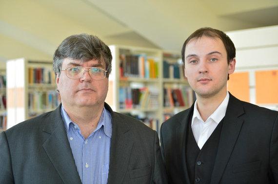 MRU nuotr./Arvydas Guogis ir Adomas Vincas Rakšnys
